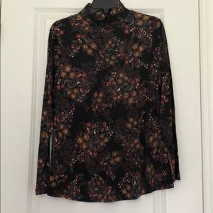 Wrapneck top pullover floral printed PXL Westbound